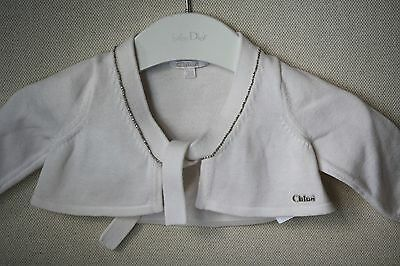 Chloe Baby Ivory Beaded Cardigan 3 Months