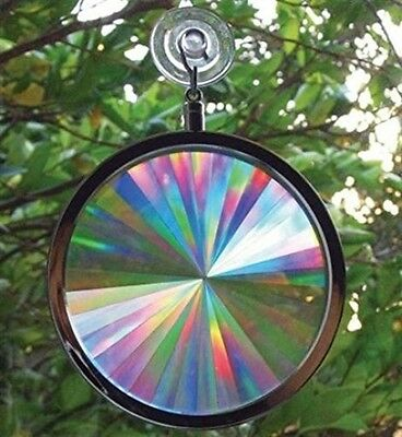 Rainbow Axicon Window Suction Cup Glass Prism Sun Sunlight Catcher
