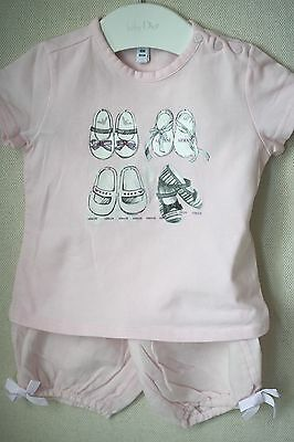 Armani Baby Pink T-Shirt And Trousers Outfit 6 Months