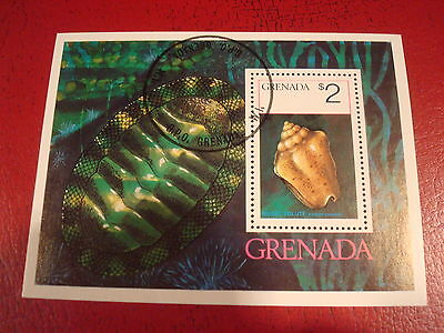 Grenada - $2 Shell - Minisheet - Unmounted Used - Ex. Condition
