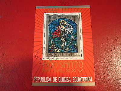 Equatorial Guinea: 1975 Easter - Minisheet - Unmounted Used - Ex. Condition
