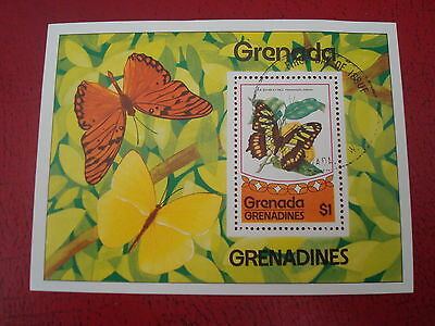 Grenada - $1 Butterfuly - Minisheet - Unmounted Used - Ex. Condition