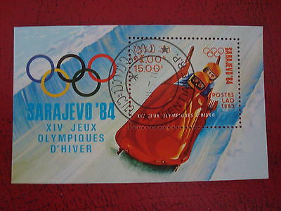 Laos - 1983 Winter Olympics - Minisheet - Unmounted Used - Ex. Condition
