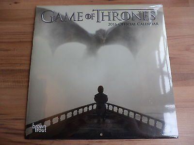 Game Of Thrones Calendar (2016) Collectors Edition New Sealed
