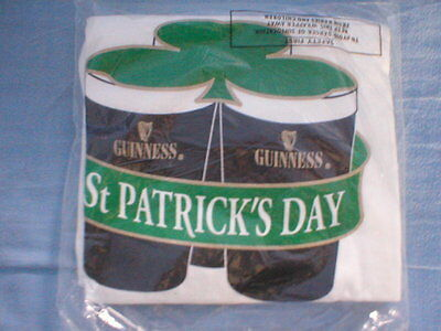 Guinness St Patrick's Day Promotional T Shirt Size XL New/Sealed in original bag