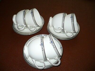 Wedgwood Amherst Bone China 6 X Cups & Saucers