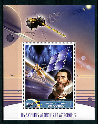 Congo 2016 MNH Satellites & Astronomers 1v S/S Kepler Space Astronomy Stamps