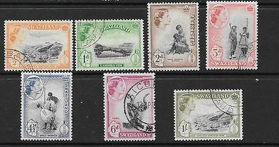 Swaziland Sg53/59 1956 Definitive Set To 1/- Fine Used