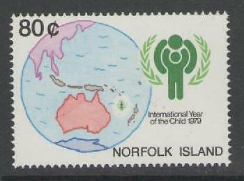 Norfolk Island Sg229 1979 International Year Of The Child Mnh
