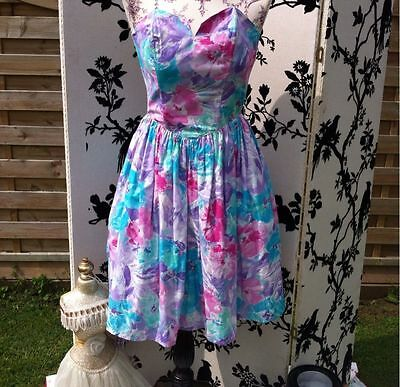 1980'S Vintage strapless summer dress