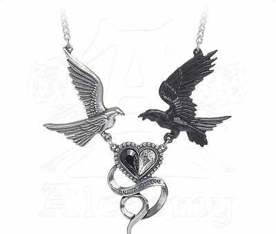 Epiphany Of St. Corvus Necklace - Alchemy Gothic Raven/Heart Jewellery P771