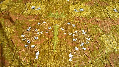 Pair Of Vintage William Morris Honeysuckle Curtains Made By Liberty Of London