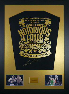 Conor Mcgregor Signed Shirt framed display with coa