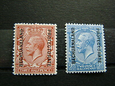 Bechuanaland 1913 MNH (1920 and 1915) odds SG.75 and 78.