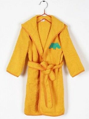 Terry Towelling Kid's Hooded  Bathrobe 100% Cotton 500gsm Size 4