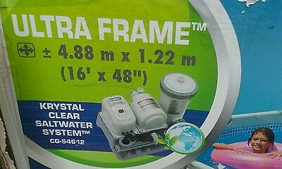 INTEX ULTRA FAME  16ft salt water pump swimming pool COLLECYION ONLY