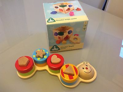 Early Learning Centre Wooden Shape Sorter Box & Caterpillar