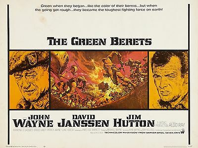 """The Green Berets 16"""" x 12"""" Reproduction Movie Poster Photograph 2"""