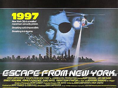 """Escape from New York 16"""" x 12"""" Reproduction Movie Poster Photograph"""
