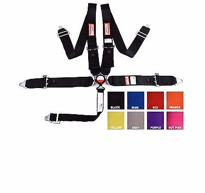 """Racing Harness 5 Pt Pull Up Lap Belts 3"""" Sfi 16.1 Cam Lock Black Or Any Color"""