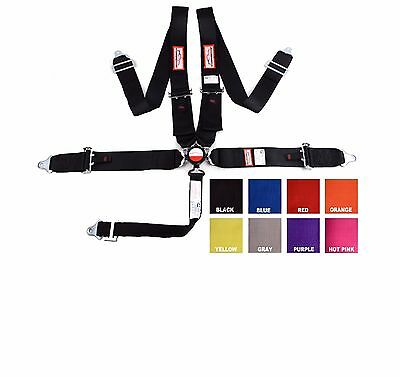 "Racing Harness 5 Pt Pull Up Lap Belts 3"" Sfi 16.1 Cam Lock Black Or Any Color"