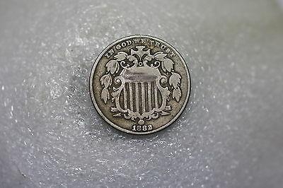 Usa Nickel 5 Cents 1882 Nice Details A60 #k7717