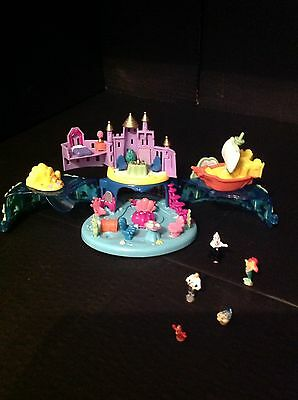 Vintage Polly Pocket Ariel 100% Complete With Figures