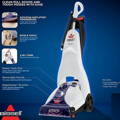 BISSELL Cleanview Power Brush Carpet Cleaner - White/Blue