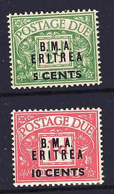 Eritrea British Occupation Sged1 & 2 M/mint Cv 20.00