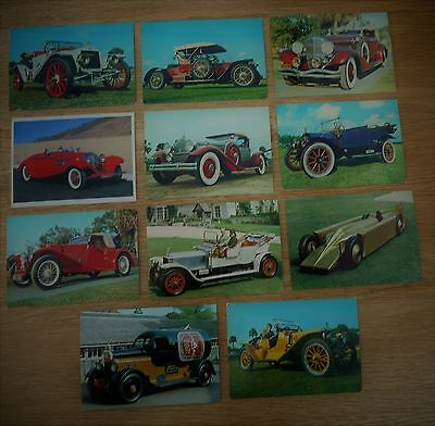 """POSTCARDS - 1909-1939 OLD CLASSIC CARS - SIZE 6"""" x 4"""""""