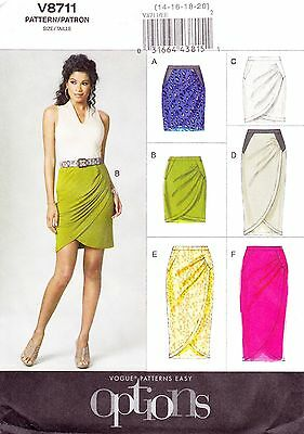Vogue V8711 Sewing Pattern Misses Skirts Pattern 14-20 NEW