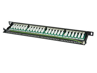 Patch Panel 24 Port 1U Cat6 Shielded FTP Patch Panel IDC KRONE TYPE 22-26 AWG