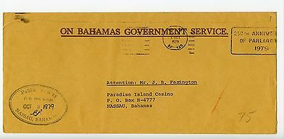 Bahamas cover used Nassau Public Treasury official 1979 (L372)