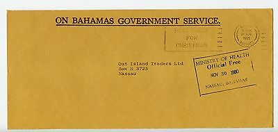 Bahamas cover used Nassau Ministry of Heath boxed official 1980 (L550)