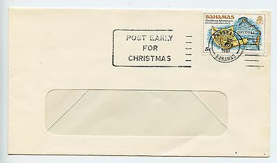 Bahamas cover used Nassau Christmas slogan 1981 (L259)