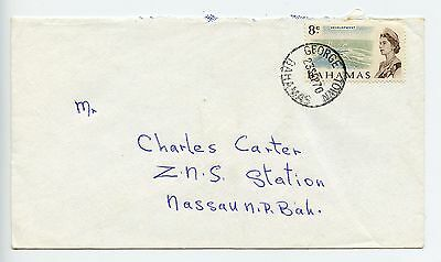 Bahamas cover used George Town 25mm CDS1970 (L526)