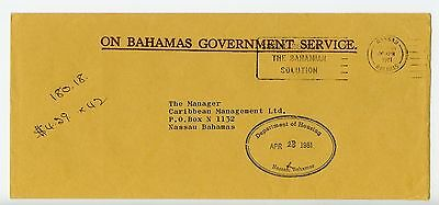 Bahamas cover used Nassau Department of Housing 1981 (K399)