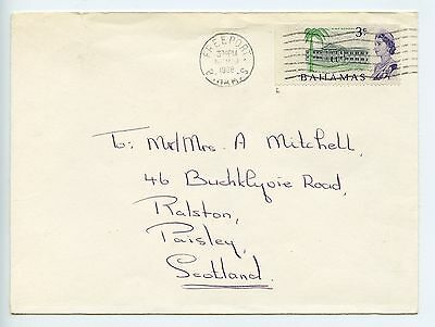 Bahamas cover used Freeport to GB 1968 21mm machine cancel (K849)