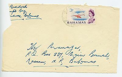 "Bahamas cover used Kemps Bay c1965 **front only""* (H990)"