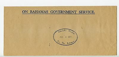 Bahamas cover used Nassau Admiralty Marshall official 1977 (J905)