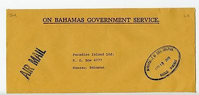 Bahamas cover used Nassau 1979 Civil Aviation (J914)