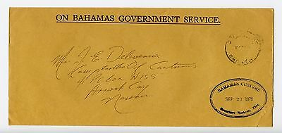 Bahamas cover used Rock Sound Governors Harbour Customs official (L537)