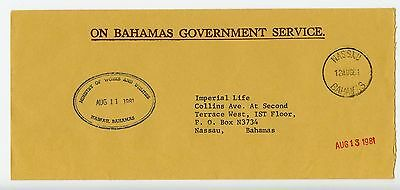 Bahamas cover used Nassau Ministry of Works official 1981 (L549)
