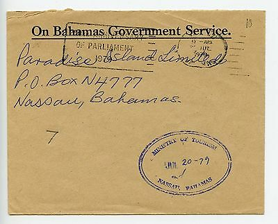 Bahamas cover used Nassau Ministry of Tourism official 1979 (J915)