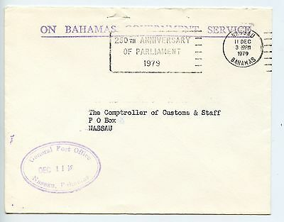 Bahamas cover used Nassau Post Office official 1979 (K396)