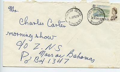 Bahamas cover used Harbour Island 25mm CDS 1969 (H752)