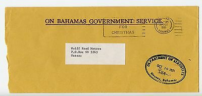 Bahamas cover used Nassau Department of Statistics official 1981 (L548)