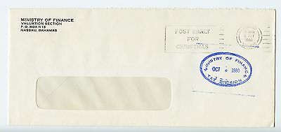 Bahamas cover used Nassau Ministry of Finance Tax Division 1980 (K646)