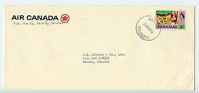 Bahamas cover used Nassau 1974 commercial Air Canada (J429)
