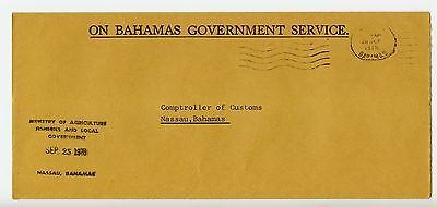 Bahamas cover used Nassau Ministry of Agriculture 1978 (L543)